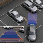Камера заднего вида с прорисовкой траектории для Audi